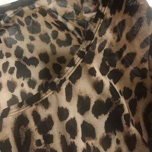 Victoria's Secret Tops - 🆕 Victoria's Secret Leopard Mesh Tee